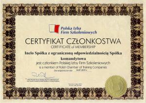 Certyfikat członkostwa PIFS_INELO